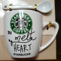 Starbucks You Melt My Heart Ceramic Espresso Coffee Mug/Tea Cup