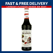 MONIN Coffee Syrups - BLACK FOREST - 1L Plastic Bottle - USED BY COSTA COFFEE