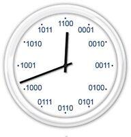 BINARY Wall Clock - Home Office Classroom Computer Programmer Code - GREAT GIFT