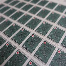 FEUILLE SHEET TIMBRE CROIX ROUGE RED CROSS N°1735 x50 1972 NEUF ** LUXE MNH