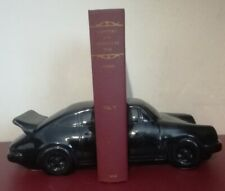 Vintage Black Ceramic Car Motor Racing Porsche 911 Book Ends Dartmouth Pottery