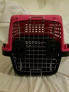 Petmate Kennel Small Hot Pink PET CARRIER small dog, cat, rabbit Dual side  open