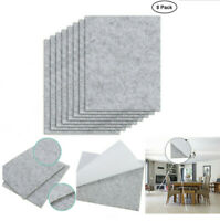 8x Eco felt Pads Wood Laminate Floor Furniture Feet Protector Table Chair Leg Vo
