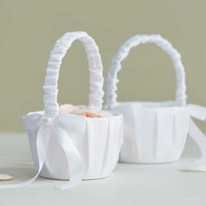 Flower Romantic Bowknots Wedding Ceremony Party Rose Flower Girl Makeup Baskets.