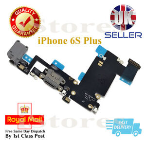 Grey Dock Connector Charging Port Headphone Jack Flex Cable For iPhone 6S Plus