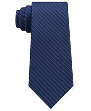 NEW $65 CALVIN KLEIN BLUE MIRROR PINSTRIPE 100% SILK NECK TIE