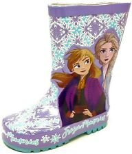 Kids Childrens Girls Frozen 2 Elsa Wellies Snow Rain Wellington Boots Size 6-12