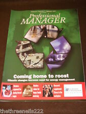 PROFESSIONAL MANAGER - ENERGY MANAGEMENT - JAN 1997