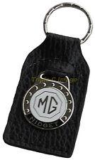 MG Midget leather and enamel car key ring / fob