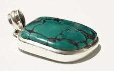 925 Silver Turquoise PENDANT Crystals Protection Healing Ideal Gift Jewellery 13