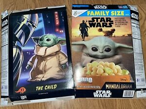 Star Wars The Mandalorian - Limited Edition cereal box lot of 2 - flat boxes