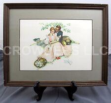 Norman Rockwell Four Ages of Love Set - Flowers in Tender Bloom Framed Art Print