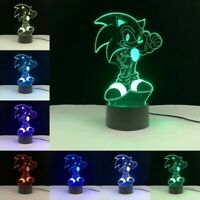 Sonic sega 3d lamp figure lampara toy toys anime manga tv movies 7 colors