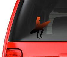 Red Tinted Surfer Girl Art Design Full Color - Vinyl Decal for Car, Macbook