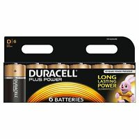 Duracell D Plus Power MN1300 Duralock Batteries for Camera/Toys & more - 6 Pack