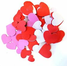 New 100 Eva Foam Heart Stickers Valentine's Crafts Assorted Sizes Colors ~ Qty 1