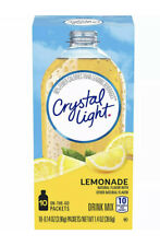 4 Pack CRYSTAL LIGHT LEMONADE Powdered DRINK 40 Packets Total ON-THE-GO Singles