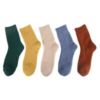 5 paia Calzini calze donna/uomo casual in lana e cashmere Caldo e denso Unisex