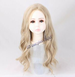 Thor Cosplay Wig Long Curly Soft Wig For Kids 3-7 years Child + a wig cap