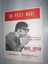 PARTITION MUSICALE BELGE MARC ARYAN UN PETIT MARI