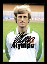 Klaus Fichtel Autogrammkarte Werder Bremen 1982-83 Original Signiert