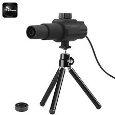 "Portable Digital Telescope 70x Zoom 2MP Camera Motion Detection 2"" View Tripod"