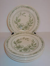 6 x English Ironstone Floral Design Side Tea Cake Sandwich Plates - Lovely