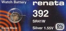1 x Renata 392 Swiss Made Lithium Cell Battery SR41W watch electronic