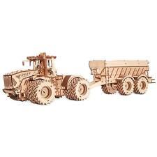 Eco Wood Art Wooden Models: Kirovets K-7M Sparpaket (Traktor + Trailer)