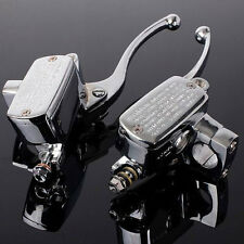 1'' 25mm Clutch Brake Levers Master Cylinder Reservoir Set For Suzuki Motorcycle