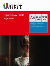 A4 Thick 300Gsm High Glossy Photo Paper Heavy Inkjet Paper Inkjet Printer Uinkit