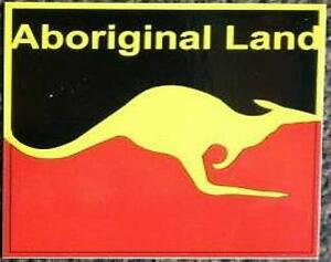 Australien Aufkleber Aborigines Land 10x10cm Flagge Fahne Känguru 10cm