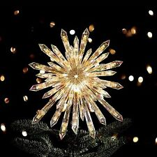 "GE 50 Lights 13.5"" Large Crystal Twinkle Sparkle Starburst Christmas Tree Topper"