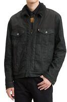 Levi's Mens Trucker Jacket Black Medium M Denim Sherpa-Lined Full-Zip $128 128