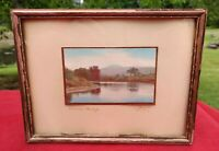 Sawyer Signed Hand Colored Photograph Camel's Hump Original Vermont Vintage