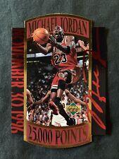 MICHAEL JORDAN 1997 Upper Deck Die-Cut 25,000 Points Commemorative Card NM/M