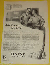 Daisy Air Rifle AD Dec 1931 Magazine Page Rifle Teams 1932 Style Great Pic SEE!