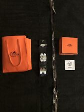 Hermes Collier de Chien CDC Bracelet Black And Silver Sz Small