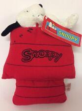 Snoopy Doghouse peluche di aspirazione finestra Kennel 10 in (ca. 25.40 cm) Nuovo Car con etichette Peanuts