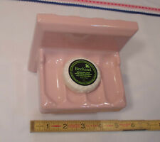 Vintage *Corallin Pink* Glossy Ceramic Soap Dish; by Fairfacts Co.  Reversible