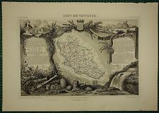 1856 MAP FRANCE DEPARTMENT ~ DE VAUCLUSE APT AVIGNON CARPENTRAS ORANGE