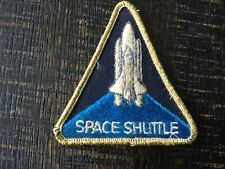 Vintage Authentic Nasa Space Shuttle Program Triangle Sew On Patch Collectible