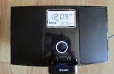 New listing Teac Sr-Lxi Hi-Fi Table Am/Fm Radio Apple Ipod dock/clock Docking Station