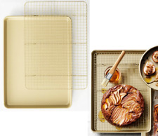 NEW Williams Sonoma Goldtouch® Pro Nonstick Corrugated Half Sheet + Cooling Rack