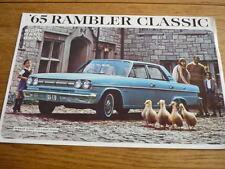 RAMBLER CLASSIC 1965 CAR BROCHURE  jm