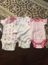 3 PREEMIE INFANT OUTFITS, GERBER, TOO CUTE! FAST SHIPPING!
