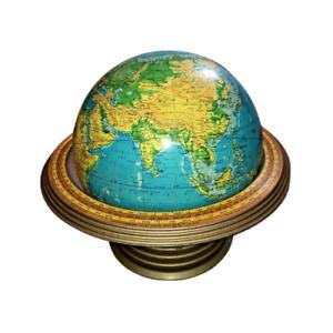 "CRAMS 16"" Physical Terrestrial World Globe Airliner Speed Base Atomic MCM"