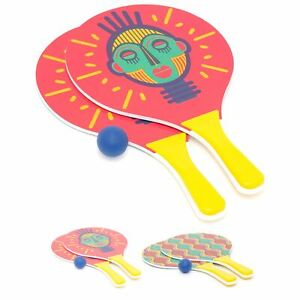 Beach Paddle Bat And Ball Game Set | Wooden Racket Outdoor Ball Game