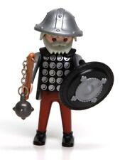 Playmobil Figure Castle Old Knight w/ Helmet Flail Shield 3667