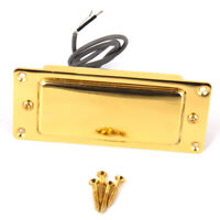VINTAGE Mini Humbucker Pickup & Gold Surround fit Les Paul Electric Guitar